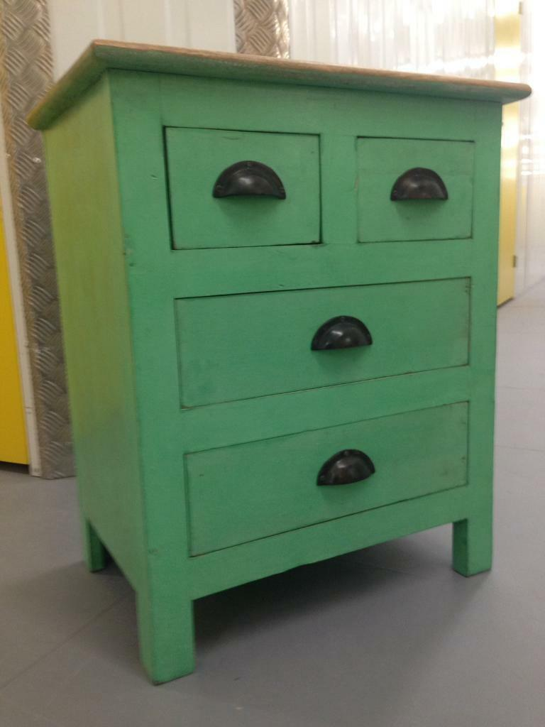 French Shabby Chic Bedside Cabinet Lamp Table Chest Drawers Laura Ashley Habitat Loaf Oka John Lewis