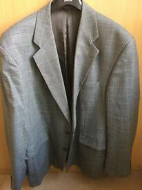 Grey checked wool sports jacket