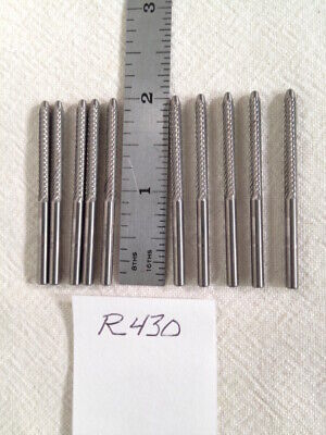 """POINTED 10 NEW 1//8/"""" R395 SHANK CARBIDE BURRS DOUBLE CUT COATED .125 USA"""
