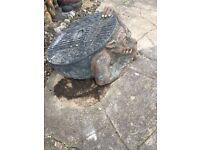 Garden dragon/gargoyle manhole cover