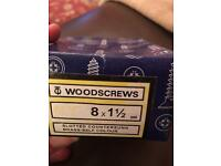 Woodscrews Brass 8 x 1 1/2