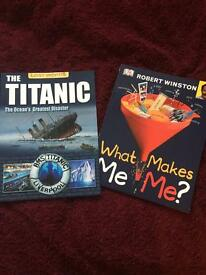 SET OF 2. THE TITANIC LOST WORDS AND WHAT MAKES ME ME?