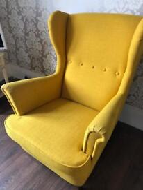 Ikea Strandmon Yellow Armchair