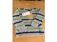 Boys grey Jumper 18-24 Months new with tags