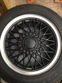E30 BMW 15x7 BBS wheels