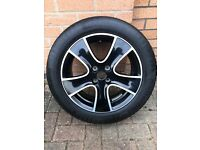 RENAULT CLIO 16 INCH SINGLE ALLOY WITH TYRE.