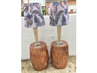 Two large lamps from Made Leaf Print