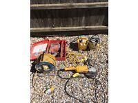 110v transformers, grinder and SDS Drill