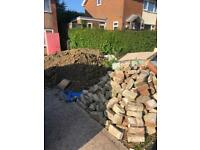 Free bricks/rubble and soil
