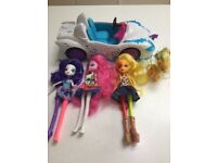 My little pony equestrian girls and car