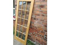 Internal heavy wooden doors with glass panels. 2, collection only.