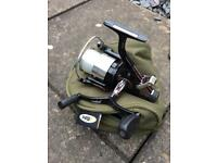 Fishing reel and pouch