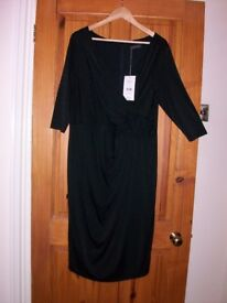 Alexon Black Wrap Over Cocktail Dress *** reduced price***