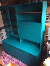Teal dresser/writing desk
