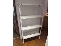 White shelving unit - 150cm x 76cm x 30cm - good condition