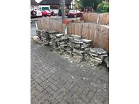 CRAZY PAVING 70/80 SQUARE METRE FOR FREE COLLECTION.