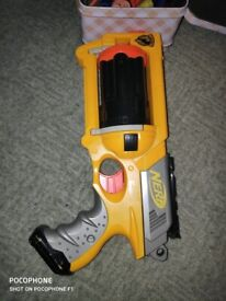 Nerf Gun with Box of Bullets