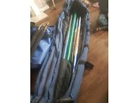 Poles ... rods .... nets an fishing box