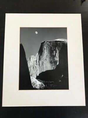 Signed Ansel Adams Special Edition Moon Over Half Dome Moon Half Dome