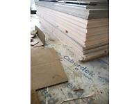 12 sheets of 40mm Knauf thermal laminated plus Insulated plasterboard,