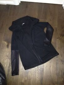 Black cardigan. WallG, size 8, black