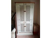 Large Solid wood dresser / cupboard / wardrobe / storage unit 183 cm high, 98 cm wide, 55 cm deep