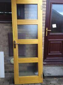 Oak doors and white doors