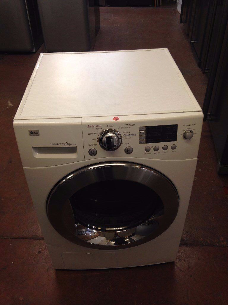 LG 8KG CONDENSER SENSOR DRYER WHITE RECONDITIONED