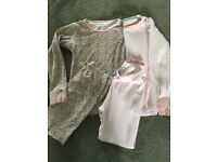 Two pairs of girls pyjamas from Next size 7-8 years