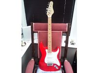 STRATOCASTER STYLE ELECTRIC GUITAR IN AS NEW CONDITION
