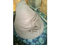 Large beanbag - Adult size. Teardrop shape.