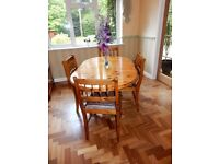 Ducal Dining Table with 4 Chairs
