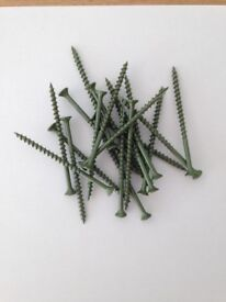 Green Coated Decking Screws 4.5 x75mm Pozi Box of 1000 pcs Trade Bulk Bargain!!!