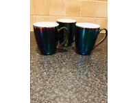 Rainbow Metallic Mugs.