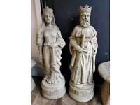 King Arther & Queen Guinevere Garden Ornaments