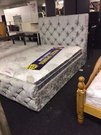 BRAND NEW CRUSHED VELVET BED ***EXPRESS DELIVERY***