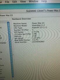 "Apple Power Mac G5 with Apple Cinema Display 24"" and 19"" Screen"
