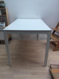 White ikea metal table