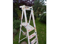 Decorative wooden ladders / suitable for shop display etc./nice colours