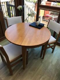 Folding Dining Table - 4 x Chairs