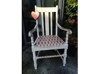 Toy soldier shabby chic chair
