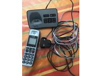 Wireless BT phone with answering machine covering 250 meters rechargeable battery BARGAIN £5