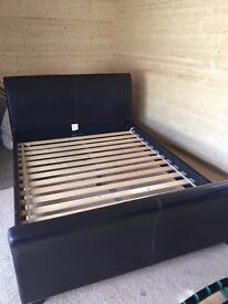 Leather effect King Size Bed