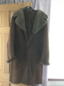 Real Sheepskin Brown Coat