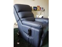 Blue rise and recline chair