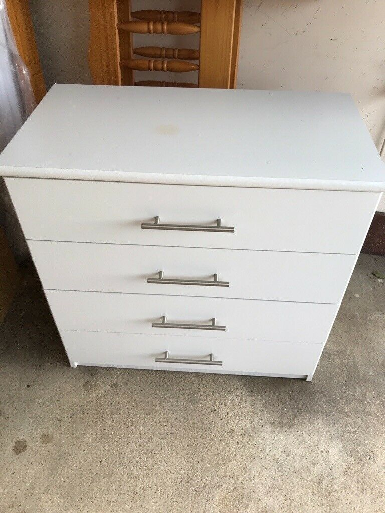 check out 02778 64447 White chest of drawers | in Newmarket, Suffolk | Gumtree