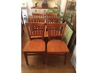 8 DINING SOLUD WOOD CHAIRS