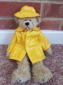TY Attic Treasure 'GORDON' the Bear in Raincoat & Sou'wester - Rare