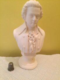 Plaster bust of Mozart