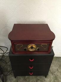 Vinyl record player steepletone retro